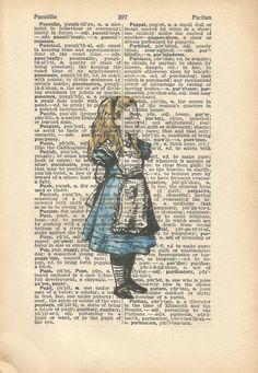 alice in wonderland vintage print just alice
