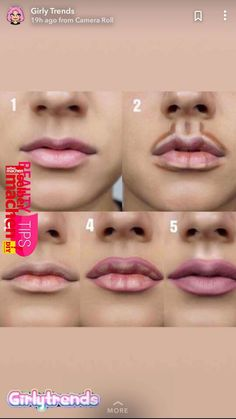 Pin by France Bougie on Maquillage in 2019 - Kama D. Moreau - - Pin by France Bougie on Maquillage in 2019 -Pin by Cecilia Dominguez on Faces & More in lip contour on both the top and bottom of the lip allows for a more exaggerated lip look Makeup ha Makeup 101, Makeup Guide, Makeup Tricks, Makeup Goals, Skin Makeup, Makeup Inspo, Makeup Inspiration, Beauty Makeup, Makeup Ideas