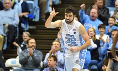 UNC's Luke Maye busted open after taking elbow to face