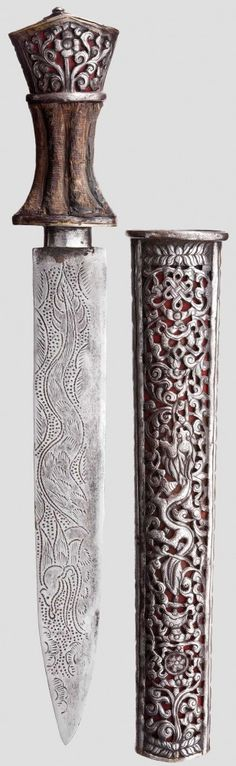 tibet and Nepal Lot Nr. 3139 Knife, Sino-Tibetan, 19th century.