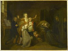 Farewell of Louis XVI from his family on the day of his execution