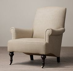 19Th C. English Sitting Room Upholstered Chair