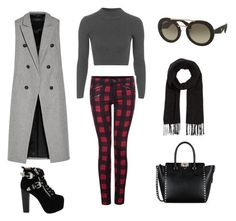 """""""Edgy Street Style"""" by salsabilaaa25 on Polyvore featuring Topshop, Dex, rag & bone, Jeffrey Campbell, Valentino, Prada, Comptoir Des Cotonniers and StreetChic"""