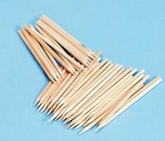 """Stylus Wood Sticks by Chenille Kraft. $7.95. Multipurpose wood sticks. Can be glued or painted. Great as scratch-art sticks and tools for clay modeling. Use them for 3-D constructions, as armatures and in combination with cork & found objects. Accepts paint and glue. 11/64"""" dia. 100/box."""