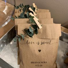 Wedding Favors - Custom Printed Favor Bags - Recycled Wedding - Treat bag Goodie Bag - Bridal Shower Favors- 25 pack Nora Peters added a photo of their purchase Inexpensive Wedding Favors, Elegant Wedding Favors, Custom Wedding Favours, Personalized Wedding Favors, Wedding Favors For Guests, Romantic Weddings, Trendy Wedding, Wedding Welcome Bags, Wedding Favor Bags