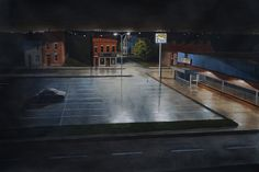 Outskirts of a city at night