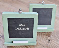 free mini chalkboards using molding www.homeroad.net