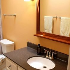Traditional Bathroom Remodel With Polystone Canyon Top And Vinyl - Hatchett bathroom remodel