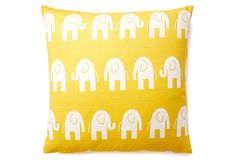 Elephant 20x20 Pillow, Yellow on OneKingsLane.com