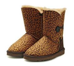 Leopard Bailey Button UGG Boots.The Christmas promotion! Our Price : $160.00 Sale Price :$109.00 Save: 32% off uggcheapshop.com    $89.99  pick it up! ugg cheap outlet and all just for lowest price # boots for this winter