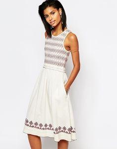 Tularosa Tamarack Embroidered Midi Dress