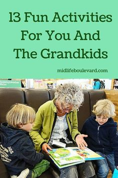 grandparents day gifts 13 Fun Activities For You And The Grandkids Fun Activities To Do, Summer Activities For Kids, Family Activities, Toddler Activities, Games For Kids, Indoor Activities, Elderly Activities, Kid Games, Adult Games
