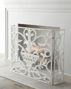 "2nd Floor / In The Setting Area Of Cristina Bedroom / ""White Urn"" Fireplace Screen at Neiman Marcus."