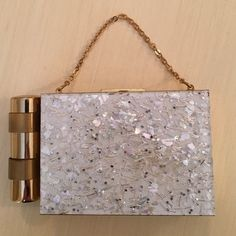 Spotted while shopping on Poshmark: Vintage Zell White Confetti Compact Carryall! #poshmark #fashion #shopping #style #Vintage #Handbags