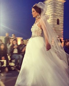 Dresses to feel like a princess on your wedding day presented at the @annaromysh fashion show  #mfw2016 #wedding #collection #annaromysh #couture #fashion #show #fashionfortress #luxurylifewithtappintomalta
