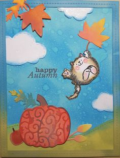 Time to Celebrate stamps  and Pumpkins and Leaves dies all by Penny Black