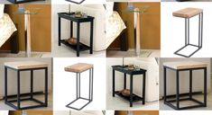 Side tables for small rooms Narrow Side Table, Side Tables, Big Couch, Small Rooms, Bar Stools, Bedroom, House, Furniture, Ideas