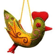 Chickadee Felt Holiday Ornament - Silk Road Bazaar (O)