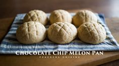 Chocolate Chip Melon Pan (vegan) ☆ 夕張チョコチップメロンパンの作り方