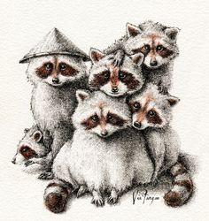 tanuki, tanuki, tanuki, tanuki, tanuki & tanuki  #tanuki #raccoon