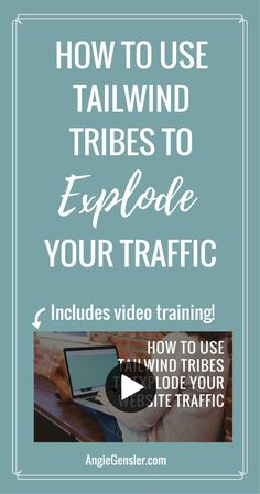 Watch this video training to learn how to use Tailwind Tribes to explode your website traffic. Tribes is a free tool, quick to use, and drives traffic! via @angiegensler