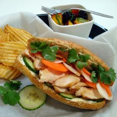 Grilled Chicken Banh Mi yum :)