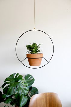 in Los Angeles - Black Metal Hanging Planter, Metal Plant Hanger, Modern Round Mid Century Plant Holder, Minimalist Boho Home A fresh take on a hanging planterA fresh take on a hanging planter Metal Plant Hangers, Metal Hanging Planters, Modern Planters, Hanging Plants, Indoor Plants, Patio Plants, Indoor Gardening, Potted Plants, Indoor Herbs