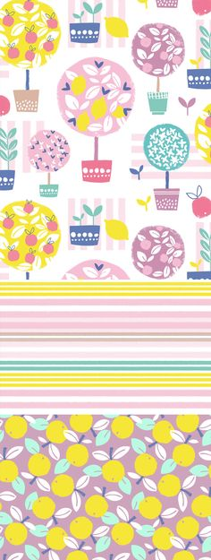 wendy kendall designs – freelance surface pattern designer » lemon trees
