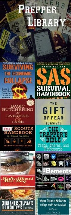 Prepper Library - Free Book Ideas
