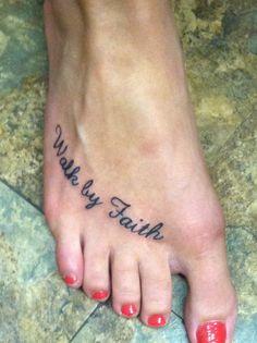 My walk by faith tattoo