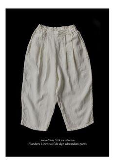 【楽天市場】【送料無料】Joie de Vivreフランダースリネン硫化染めバックポケットエドワードパンツ:BerryStyleベリースタイル Trousers Fashion, Japan Design, Loose Pants, Pants Pattern, Japanese Fashion, Dressmaking, Minimalist Fashion, Casual Shorts, Cool Outfits