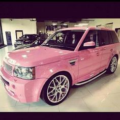 Pink Range Rover - How Could You NOT Be IN LOVE With This?!