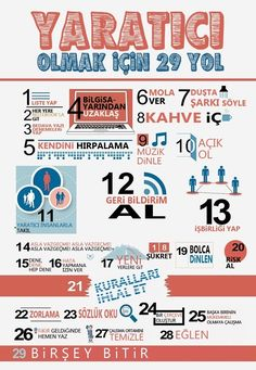 29 Ways to Stay Creative [Infographic] web design, website design, creative, inspiration
