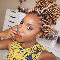 20 Stunning Photos of Black Women Rocking FauxLocs   Black Girl with Long Hair