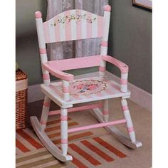 Children Rocking Chairs  - Pin it :-) Follow us .. CLICK IMAGE TWICE for our BEST PRICING ... SEE A LARGER SELECTION of  children rocking chairs    at  http://zbabybaby.com/category/baby-categories/baby-nursery/baby-rocking-chair/  - gift ideas, baby , baby shower gift ideas -  Teamson Kids Bouquet Panel Rocking Chair with Standing Mirror « zBabyBaby.com