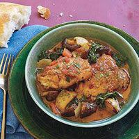 Portuguese-Style Chicken One-Pot < I can see this becoming a new favourite recipe to serve beautiful boys!