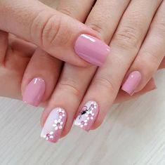 Flowers, little flowers, grow on my nails <3 #pink #floral #nails #thepronails