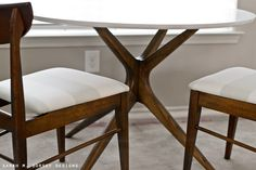 sarah m. dorsey designs: Mid Century Modern Table and Chairs | Before + After