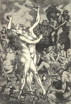 Martin van Maële. Illustration de La sorcière, de Jules Michelet. 1911.