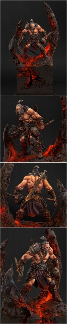 "Barbarian, set in the Diablo 3 realm ""Arreat Crater Level 2"" by Solmar"