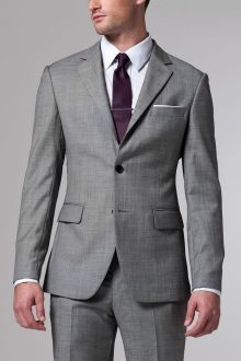 The Essential Gray Suit - Indochino, they make affordable custom measured clothing.... affordable for it being custom measured.    @Onoku - or buy purple tie.. so it matches with my purple dress...?