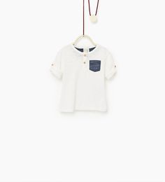 Top with pocket-T-SHIRTS-BABY BOY   3 months-3 years-COLLECTION AW16   ZARA United States