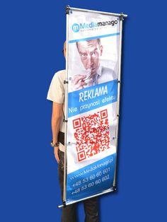 Sprzęt reklamowy polski producent walking banner - reklama mobilna Szczecin