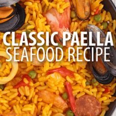 Mario Batali 1986 Paella Recipe with Rouille (from The Chew)  This is my first Mario B recipe and my first paella pin.  It looks very yummY because I like rouille (that rhymes in my head)