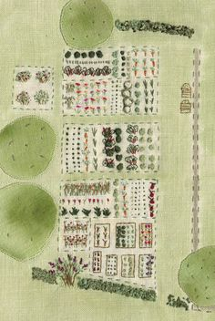 The vegetable garden at Monk's House, from my book Virginia Woolf's Garden