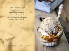 Toasted oak ice cream with smoked sea salt & lapsang souchong caramel swirl