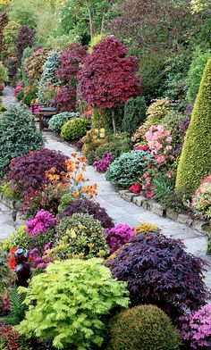 Spring upper garden at the Four Seasons Garden in Walsall in West Midlands, England • photo: Marie and Tony Newton / Four Seasons Garden on Flick