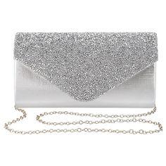 961565956a Womens Evening Bag Handbag Clutch Purse Rhinestone-Studded Flap for Wedding  Party Prom - Silver - CH18979CX3D