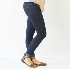 The Original is your standard 5 pocket jean jeggings. With classic silhouette construction, the Original is smooth, stretchy, and fits like a glove. There are also rhinestones pocketing and button embellishment highlighting the look and feel. These jeggings are so soft, you will love wearing them all winter and spring long!