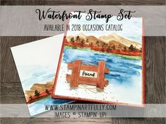 """Stampin Artfully: Landscape """"Painting"""" with the New Waterfront Stamp Set"""